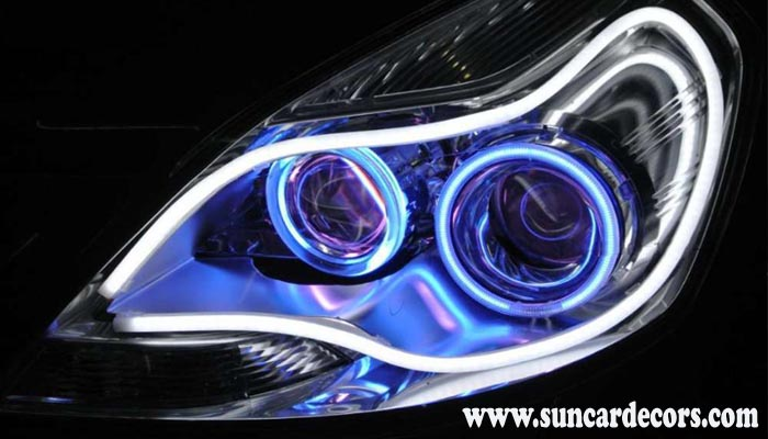 Modified Headlights Projector Led Drl Cars Bikes