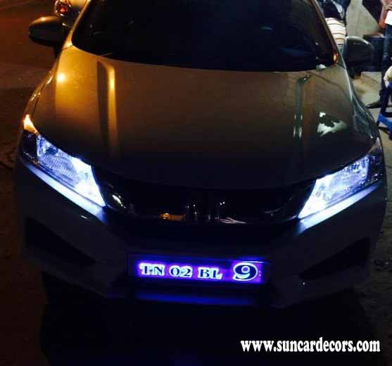 New Honda City Light Number Plates Design
