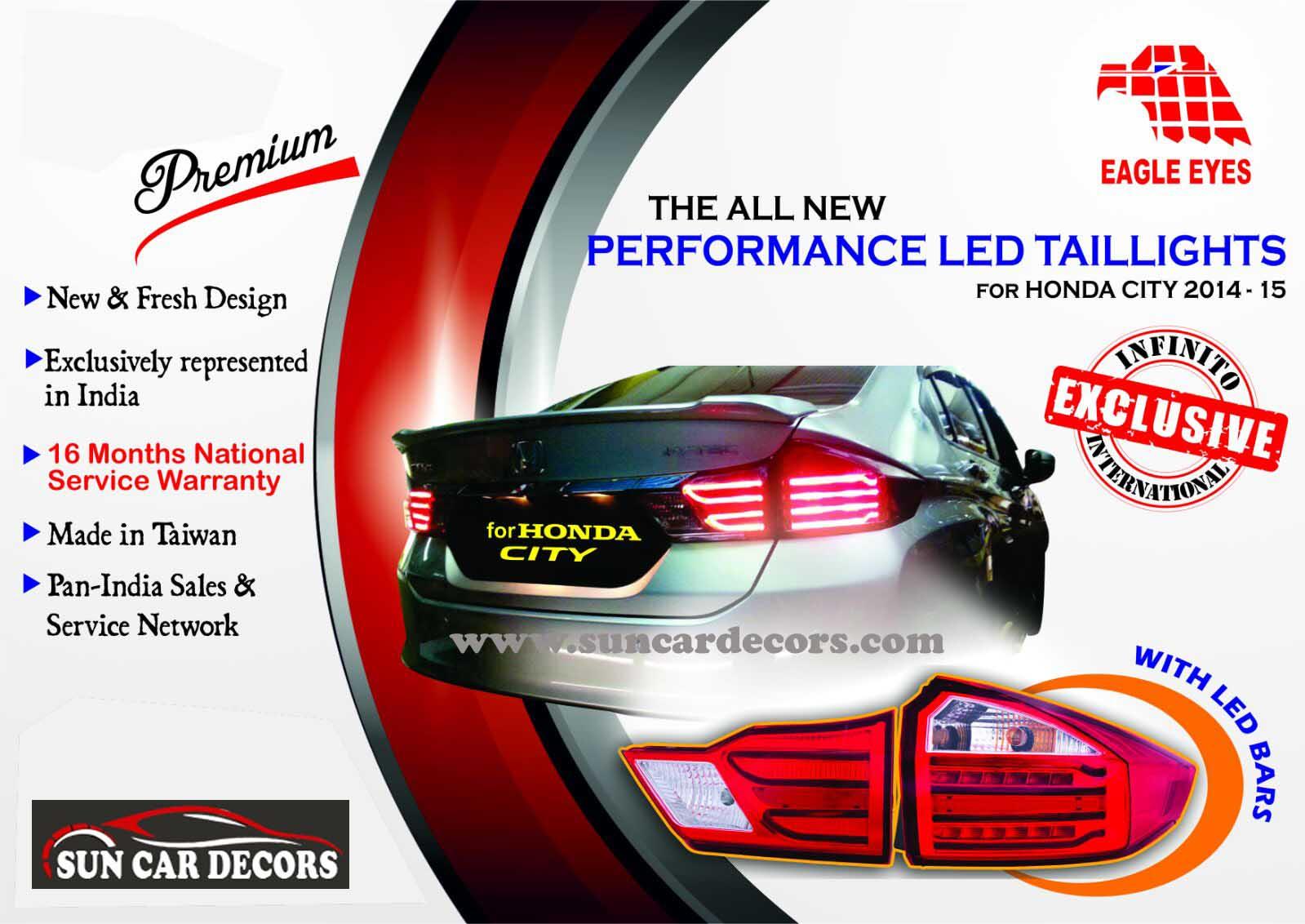 Car stickers design in coimbatore - Honda City Tile Lights
